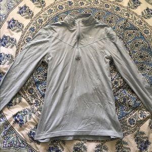Nike Dry Fit Sky Blue half zip running jacket!